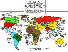 The World according to a group of Americans - HUMOUR