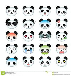cute panda icon - Google Search