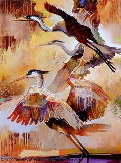 """Abstract Bird Painting, Contemporary Art, """"Lift Off"""" Artist Tim Parker - Art2D Gallery, Modern Art Original Paintings and Fine Art Prints"""