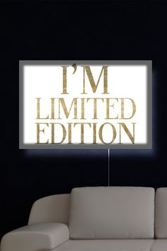 'Limited Edition Luxe' LED Canvas Lightbox by Oliver Gal Gallery on @HauteLook