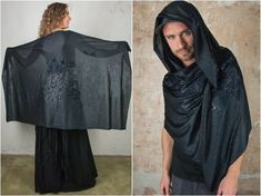 Black Witch Crow Bird Scarf Sarong and Shawl for Raven Cosplay Print Scarf. The perfect Accessory for Gothic Dress and Goth Mens and Women Clothing The Crow Safi gorgeous dark mori print is made of super soft and light Modal material. This is a high tech material from Lenzing Austria which is made Festival Outfits, Festival Fashion, Elven Cosplay, Pixie Costume, Jedi Outfit, Pixie Outfit, Dystopian Fashion, Cyberpunk Clothes, Crow Bird
