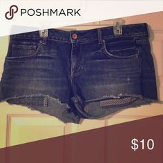 American Eagle Crop Jean Shorts 100% Cotton American Eagle Jean Shorts - Size 14 - Loose Fit - These shorts have been worn but have no Stains or tears. ➡️➡️➡️ I am willing to negotiate on the price, so make me an offer! 😊 10% off bundles of three. ⭐️No Trades⭐️ American Eagle Outfitters Shorts Jean Shorts