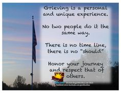 Grieving is a personal an unique experience A Poem | The Grief Toolbox