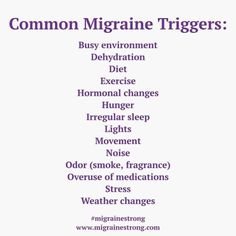 The most common reported migraine triggers - Migraine Strong Migraine Trigger Foods, Foods For Migraines, Types Of Migraines, Migraine Triggers, Migraine Diet, Migraine Pain, Chronic Migraines, Migraine Relief, Chronic Pain