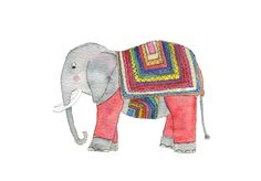 Cozy Elephant in a jumper! My watercolour illustration is available on my Etsy store, Edie Escargot, as a print. Perfect for the nursery! Watercolor Pencils, Watercolour, Illustrations And Posters, Watercolor Illustration, Etsy Store, I Shop, Elephant, Etsy Seller, My Arts