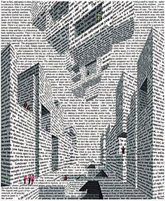 City of words, by Vito Acconci