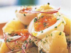 有元 葉子さんの卵を使った「半熟卵とじゃがいものサラダ」のレシピページです。トロ~リ半熟卵をホクホクじゃがいもにからめて食べましょう。 材料: 卵、じゃがいも、紫たまねぎ、ケイパー、白ワインビネガー、イタリアンパセリ、塩、こしょう、オリーブ油
