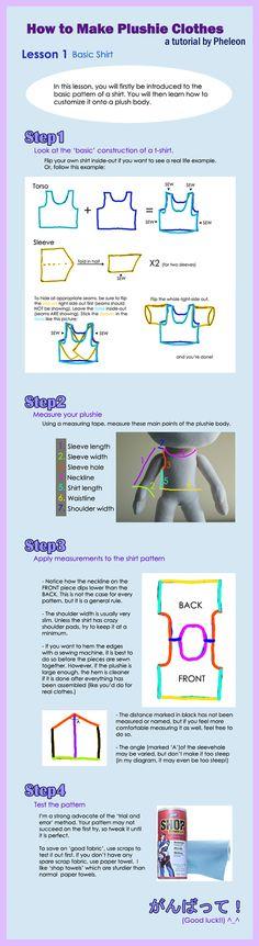 How to Make Plushie Clothes- Part 1 by pheleon.deviantart.com on @deviantART