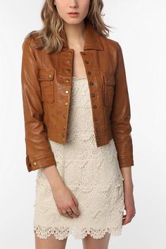 Burberry London Cropped Leather Jacket | BURBERRY | Pinterest ...