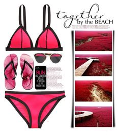 """""""together by the beach"""" by emcf3548 ❤ liked on Polyvore featuring Christian Dior"""