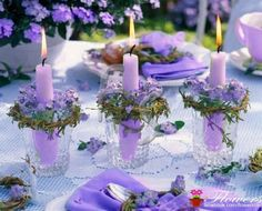 Beautiful candle displays for home or special event!