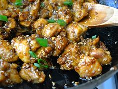 Sesame Chicken: a weekly staple in our house! Make a big bunch, because the leftovers make great lunches