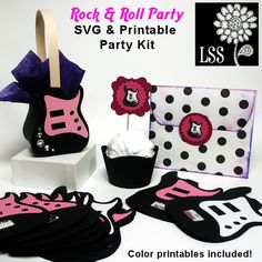 rock and roll party ideas adults | Rock & Roll Party SVG - SVG Cutting Templates - Mygrafico.com