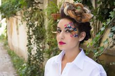 #hairstyle #make-up #colours #whiteshirt #nature #glamour