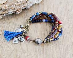 lucky elephant boho bracelet - hippie bracelet - boho jewelry - gypsy bracelet on Etsy, $65.00