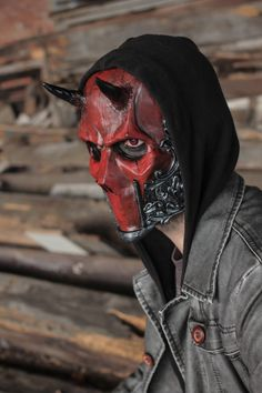 THE DEVIL Resin Skull Full-Face Mask