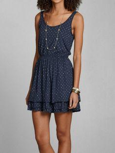 Sarah Cinch Waist Dress #Abercrombie&Fitch
