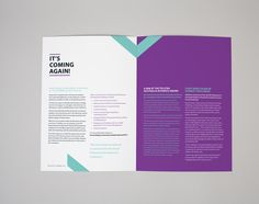 Corporate Newsletter by Mayah Higgins, via Behance