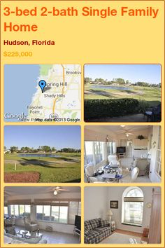 3-bed 2-bath Single Family Home in Hudson, Florida ►$225,000 #PropertyForSale #RealEstate #Florida