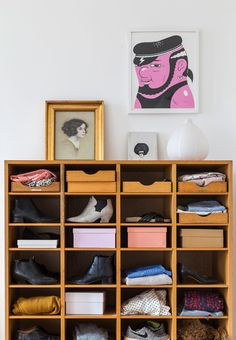 Smart and simple open shoe storage for your closet.