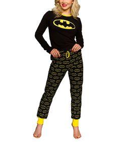 Another great find on #zulily! Black Batman Pajama Set - Women by Undergirl #zulilyfinds