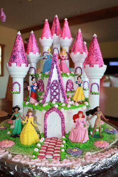 Disney Princess Castle cake by Cake Imagination. Facebook: Cake Imagination - Amy Masini