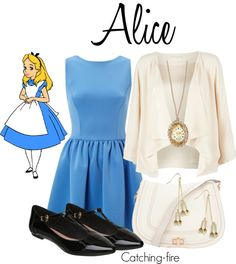 """Alice in Wonderland"" by catching-fire ❤ liked on Polyvore"