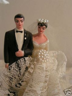 Vintage bride and groom cake toppers, pussy models tgp