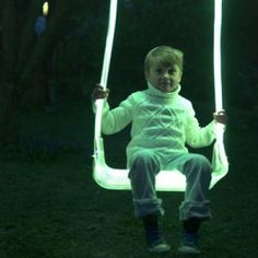 Sense light swing | Alexander Lervik | Swedish design glowing light backyard swing for childrenThe sense light swing was created by Swedish designer Alexander Lervik in 2005 for a show called Five Playful Chairs. The seat of the swing is constructed out of transparent acrylic and lit from within with a strip of LEDs. http://www.alexanderlervik.com/index.asp Tagged with: alexander lervik, chair, LED, light, lighting, playground design, swedish design October 2012,