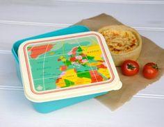 Lunchdoos 'Vintage World Map'