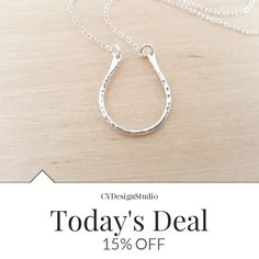 Today Only! 15% OFF this item.  Follow us on Pinterest to be the first to see our exciting Daily Deals. Today's Product: Dainty Horseshoe Charm Sterling Silver Necklace Simple Jewelry Everyday Necklace / Gift for Her / Horseshoe Necklace Buy now: https://www.etsy.com/listing/385695196?utm_source=Pinterest&utm_medium=Orangetwig_Marketing&utm_campaign=Daily%20Deal   #etsy #etsyseller #etsyshop #etsylove #etsyfinds #etsygifts #musthave #loveit #instacool #shop #shopping #onlineshopping…