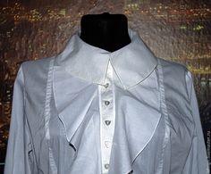 """Купить блузка """"Bianca"""" - белый, однотонный, воланы, блуза из шелка, блузка из хлопка, блузка нарядная"""