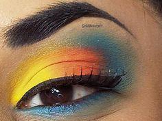 Yellow, Orange and Blue #Makeup