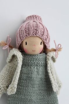 Waldorf doll Waldorf knitted doll 8 Lotta