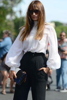 Caroline de Maigret outside Chanel Couture   Paris.