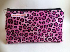 Pink Leopard Makeup Bag (Large) on Etsy, $20.00 CAD
