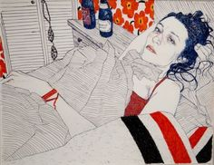 Krystina Plante: October by Hope Gangloff (American, b. Art And Illustration, Illustrations, Sketch Painting, Figure Painting, Painting Inspiration, Art Inspo, Hope Gangloff, Art Studies, Les Oeuvres