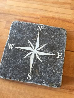 windroos - steen - graveren Compass card- stone - engrave - laser - stone