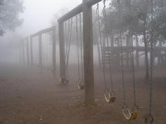 Foggy swings in the park - Writing inspiration When You See It, Into The Fire, Southern Gothic, Night Vale, Story Inspiration, Writing Inspiration, Art Plastique, Mists, Abandoned