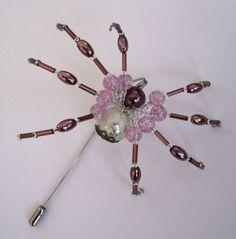 Spider pin  stick pin  scrapbooking  cardmaking  by DesignByMiSt, $20.00
