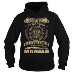 Awesome Tee MANALO Last Name, Surname T-Shirt T-Shirts