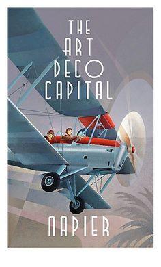 Napier Art Deco City poster campaign.The