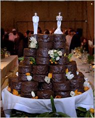 Wedding cake made from Ding Dongs---yes!