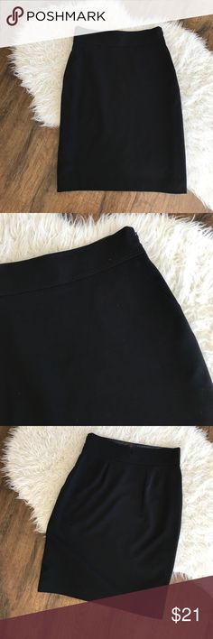 """Tahari Black pencil skirt Black fully lined polyester pencil skirt with side zipper. Measures approximately 15"""" at the waist and is 24"""" in length. Like new, dry clean only. T Tahari Skirts Pencil"""