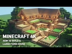 Minecraft House Tutorial :: How to build the ultimate farm house # 90 Mobs Minecraft, Craft Minecraft, Construction Minecraft, Minecraft Building Blueprints, Minecraft Mansion, Minecraft Structures, Minecraft Houses Survival, Cute Minecraft Houses, Minecraft House Tutorials