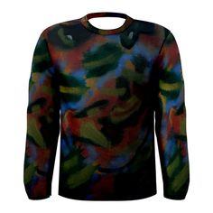 All appleartcom's products are from the original paintings of the artist/designer Jocelyn Apple. Kindly see: (www.facebook.com/appleartcom)    (www.cowcow.com/appleartcom). The Algae Men's Long Sleeve Tee by Jocelyn APple/Appleartcom. Tackle winter in style with this fully uniquely designed long sleeve t-shirt just for you!