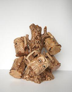 Vintage Owl Mug Tree via Skungboy blog. Amazing.