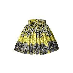 Printed High Waist Yellow Mini Skirt ($27) ❤ liked on Polyvore featuring skirts, mini skirts, yellow, high waisted mini skirt, green mini skirt, high-waist skirt, empire waist skirt and yellow skirts