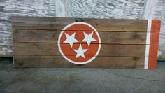 Tennessee Vols State Flag sign ,  Wooden stars on pallet wood. Hand crafted from Rustic Flair by Lee Morris