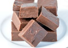Chocolate Fudge - Just 3 ingredients in this homemade fudge recipe! Only 3 minutes until it's ready to pop in the fridge! Perfect holiday gift idea.
